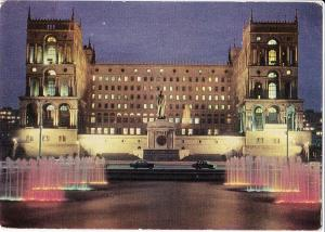 Azerbaijan, The Dom Soviet, Baku, used Postcard