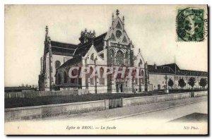 Old Postcard Bourg Brou Church facade
