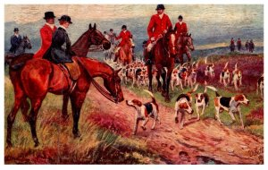 Dog  ,  The Hunting Field  , ( Fox Hunt )