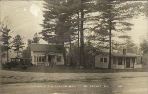 North Conway NH Cottages at Pine Tree Tea Room Real Photo Postcard