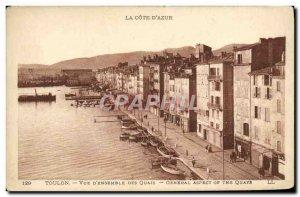 Postcard View of Old Toulon & # 39Ensemble Quays