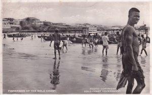 Fishermen Of The Gold Coast Ghana Real Photo Postcard