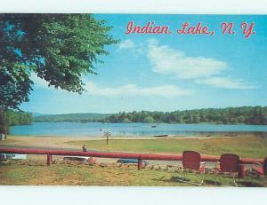 Pre-1980 WATER SCENE Indian Lake New York NY hk2376