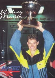 Rodney Martin Australian Squash Tennis Champion Rare Photo Plain Back Postcard