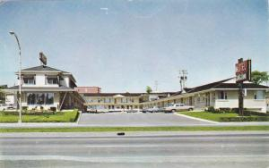 Exterior of Motel L'Abitation from Across the Street, Laurier, Quebec, Canada...