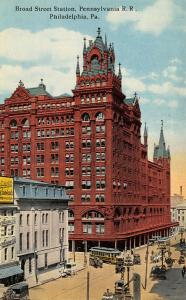 Philadelphia PA~Broad Street Station~Montague Candy Co~Soda~Lunch~Trolleys~1910