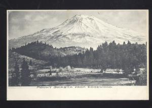 MOUNT SHASTA FROM EDGEWOOD CALIFORNIA ANTIQUE VINTAGE