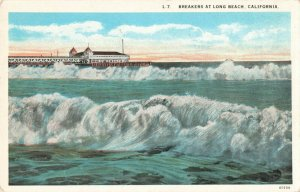 Postcard Breakers at Long Beach California