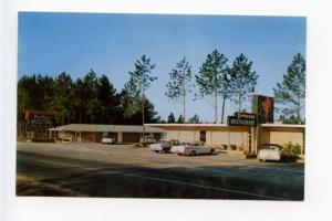 Jesup GA Drive-In Food Motel Old Cars Postcard