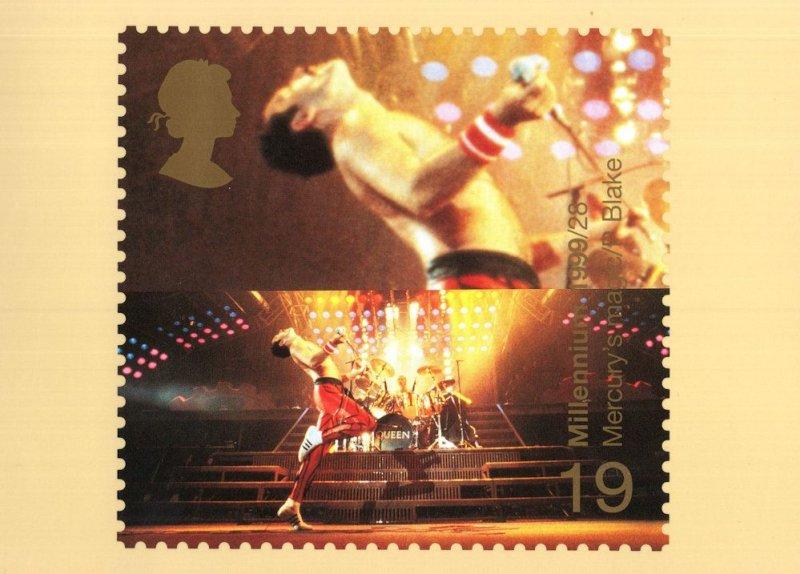 Freddie Mercury Queen PHQ Limited Edition Wembley FDC Postcard
