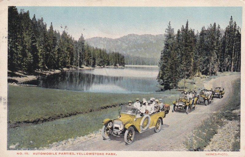 YELLOWSTONE, Wyoming, PU-1917; Automobile Parties, Yellowstone Park