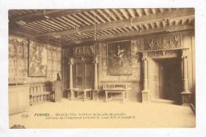 Hotel De Ville, Interieur De La Salle De Retraite, Furnes (West Flanders), Be...