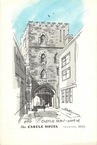 England Taunton Castle Bow part of Castle Hotel Postkarte