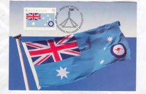 Maximum Card; Australia Day 1991; First Day of Issue Flag Stamp : Air Force E...
