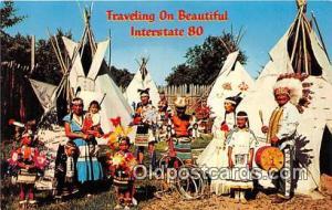 Indian Villages North Platte, Nebraska, USA Postcard Post Cards North Platte,...