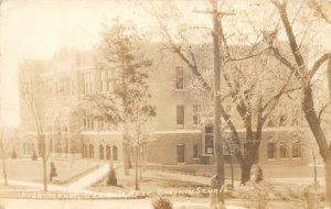 F56/ Osceola Nebraska RPPC Postcard 1935 High School Building
