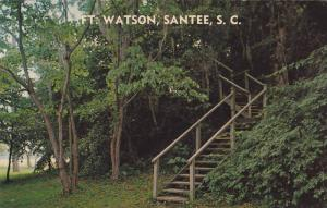 Scenic Entrance, Stairs Lead to Top of Old Indian Mound, Fort Watson, Santee,...