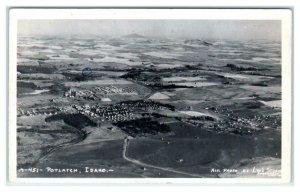 RPPC  POTLATCH, Idaho ID ~ Aerial View COMPANY TOWN 1942 Latah County Postcard