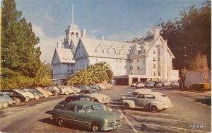 1940s Berkeley California Hotel Claremont autos roadside Roberts postcard 8136