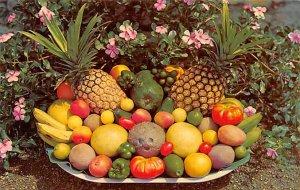 Tropical Fruits Panama Tape on back