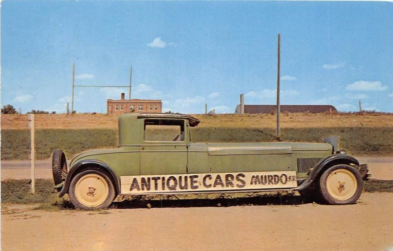 South Dakota SD Postcard Roadside MURDO Pioneer Auto Museum Chrome