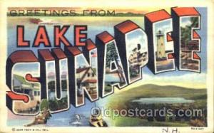 Greetings From Lake Sunapee, New Hampshire, USA Large Letter Town Towns Postc...