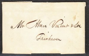 1830 wine receipt – Macomber, Sawin & Hunting to Abner Vincent & Son Fairhaven