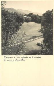 Los Angeles Lima Peru RPPC Postcard