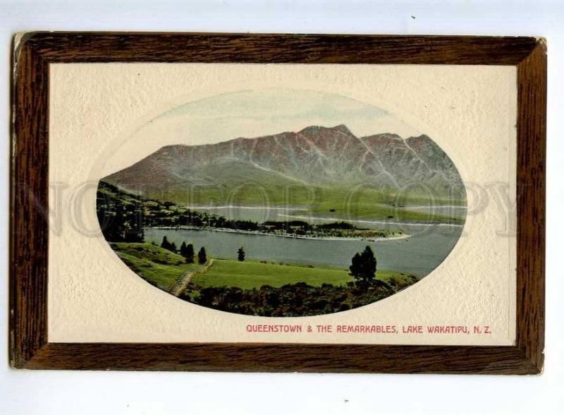 236495 NEW ZEALAND Queenstown Lake Wakatipu Old embossed PC