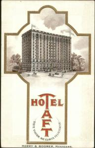 New Haven CT Hotel Taft Merry & Boomer Managers Adv Promo Postcard