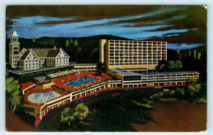 OAKLAND, CA ~ HOTEL CLAREMONT & Lanai Tower 1958  Alameda County Postcard