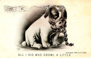 All I did was growl a little   Artist: V. Colby