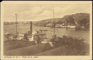 curacao, D.W.I., Vista de la Isla, Steamer (1920s)
