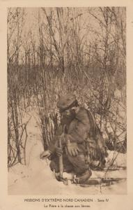 NORTHWEST TERRITORY, Canada, 00-10s; Catholic Missionary Rabbit Hunting in Snow
