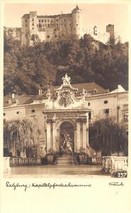 Salzburg Kapitel Pferdeschwemme Statues Castle