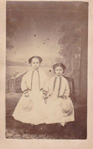 CDV: Two girls portrait , 1870-80s