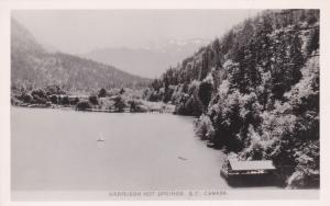 RP; Aerial View of HARRISON HOT SPRINGS , B.C., Canada; 1920-30s