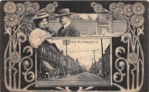 E67/ Bridgeport Ohio Postcard Belmont County 1909 Fancy Main St