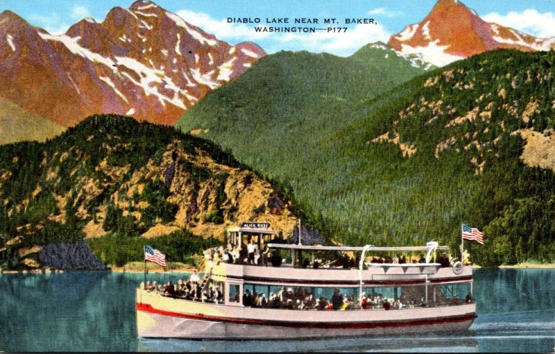 Washington Diablo Lake Near Mount Baker