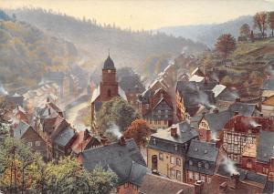 Morgengrauen in Monschau in der Eifel, Dawn of Day Church, Kirche Panorama