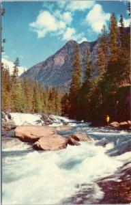postcard Cascades, McDonald Creek Glacier National Park Montana