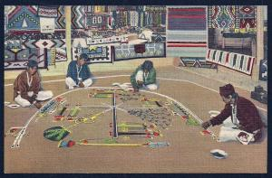 Navajo Whirling Log Sand Painting unused c1939