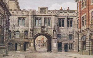 Entrance, Arch, Stonebow, LINCOLN, England, UK, 1900-1910s