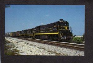 FL Seaboard Coast Line Railroad Train Fort Ft Lauderdale Florida Postcard