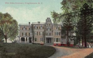 Glen Eden Seminary, Poughkeepsie, New York, Early Postcard, Used