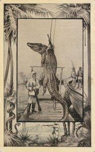 Africa Safari 1909 Series by Mintz of Chicago - Crocodile Trophy - DB