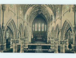 Unused Divided-Back CHURCH SCENE Albany New York NY A8637