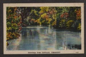VT Greetings from CANAAN VERMONT Postcard Linen PC