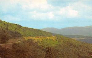 WESTERN NORTH CAROLINA BLUE RIDGE PKWY FROM WATERROCK KNOB POSTCARD 1960s