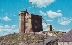 Cabot Tower: Showing Marconi's Monument and Powder Magazine, St. John's, Newf...